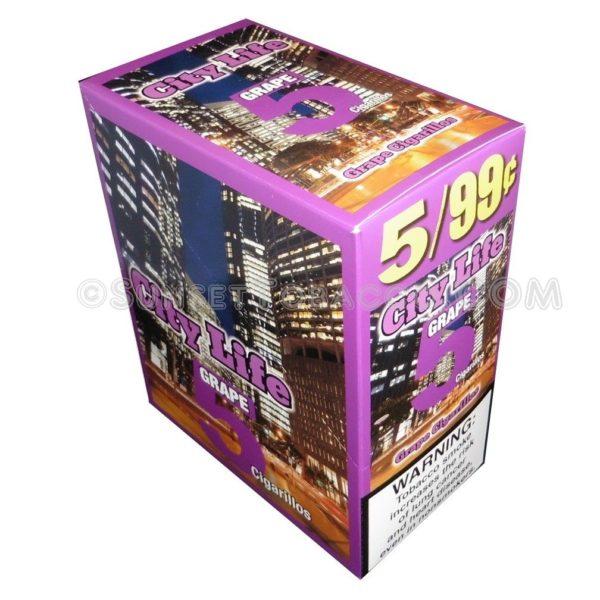 City Life Grape Cigarillos 15 Packs of 5/75ct.