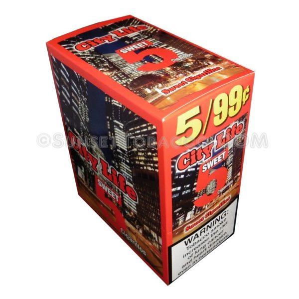 City Life Sweet Cigarillos 15 Packs of 5/75ct.