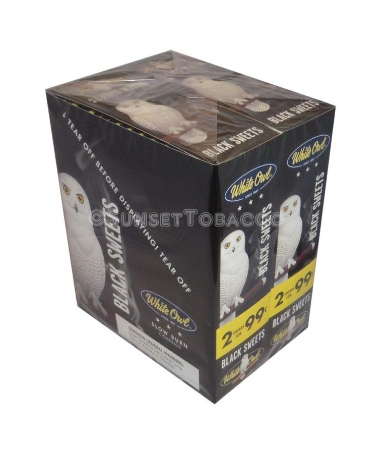 White Owl Cigarillos Black Sweets 30 Packs of 2/60ct.