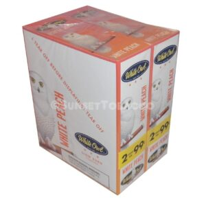 White Owl Cigarillos White Peach 30 Packs of 2/60ct.