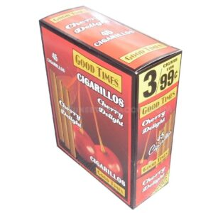 Good Times Cigarillos Cherry Delight 15 Packs of 3/45ct.