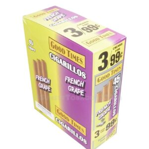 Good Times Cigarillos French Grape 15 Packs of 3/45ct.