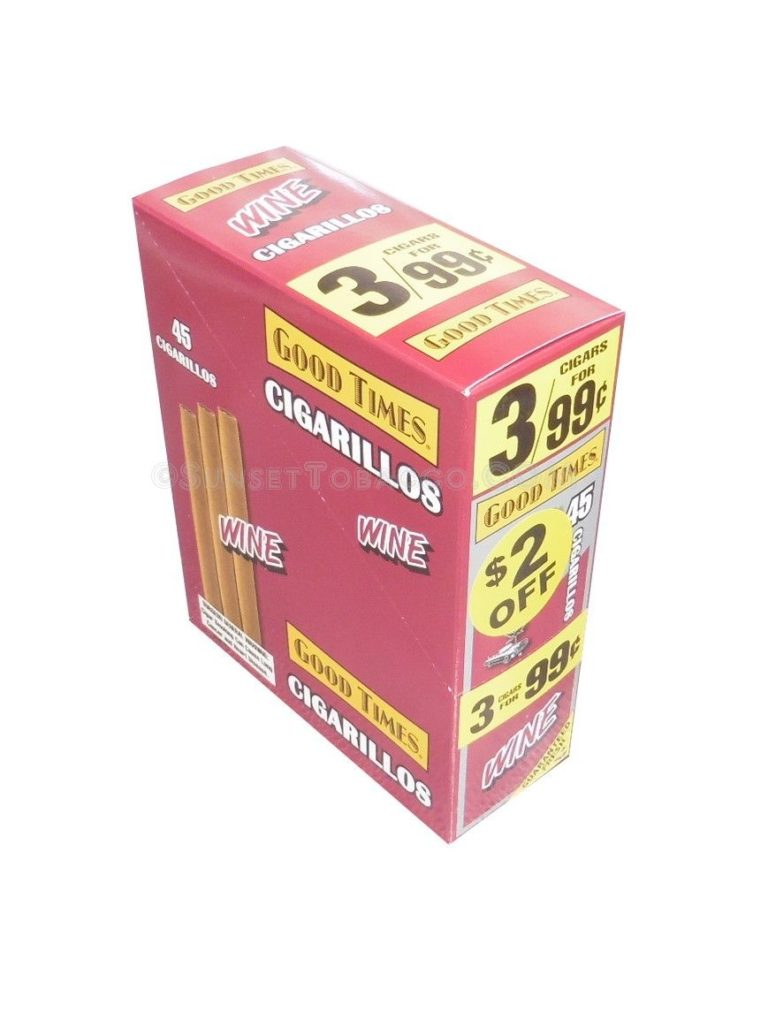 Good Times Cigarillos Wine 15 Packs of 3/45ct.
