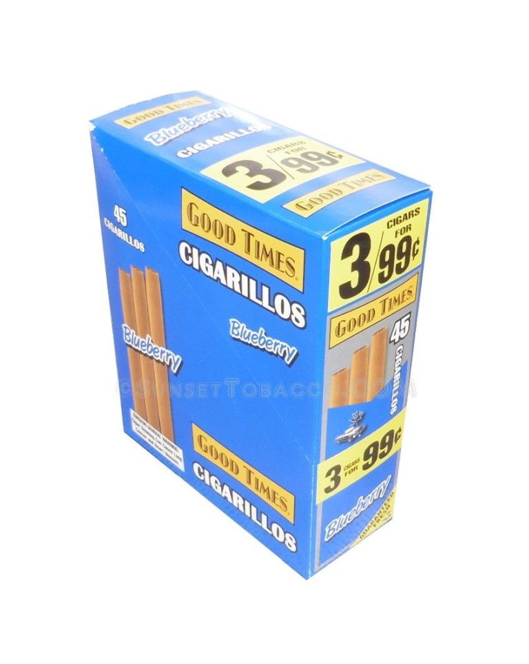 Good Times Cigarillos Blueberry 15 Packs of 3/45ct.