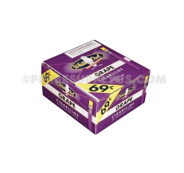 White Owl Cigarillos Grape 60ct.