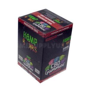 HB High Potency CBD Gummies 6 Pouches of 20 120ct./Display